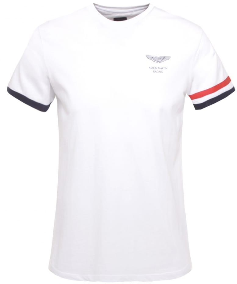 HACKETT WHITE ASTON MARTIN RACING STR TSHIRT - Aston martin shirt