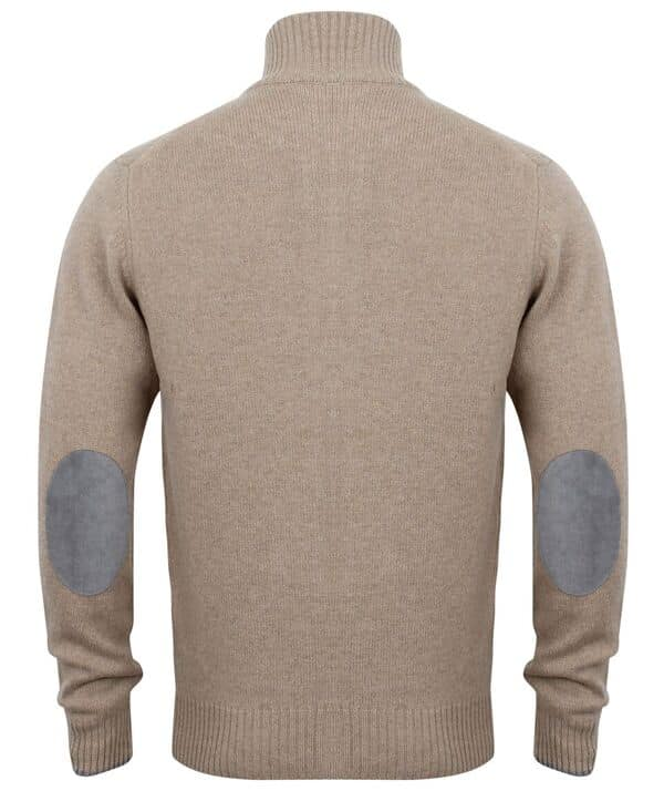 612273a43c42d2 HACKETT LONDON BEIGE CASHMERE MIX FULL ZIP JUMPER