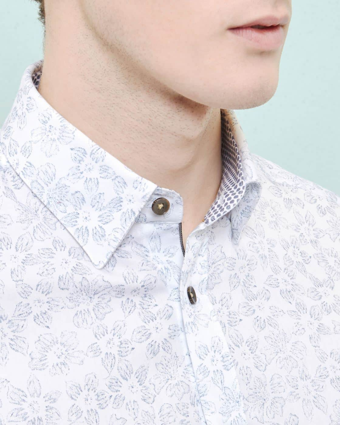 6758d93fe52 TED BAKER TWESTA WHITE FADED FLORAL PRINT SHIRT