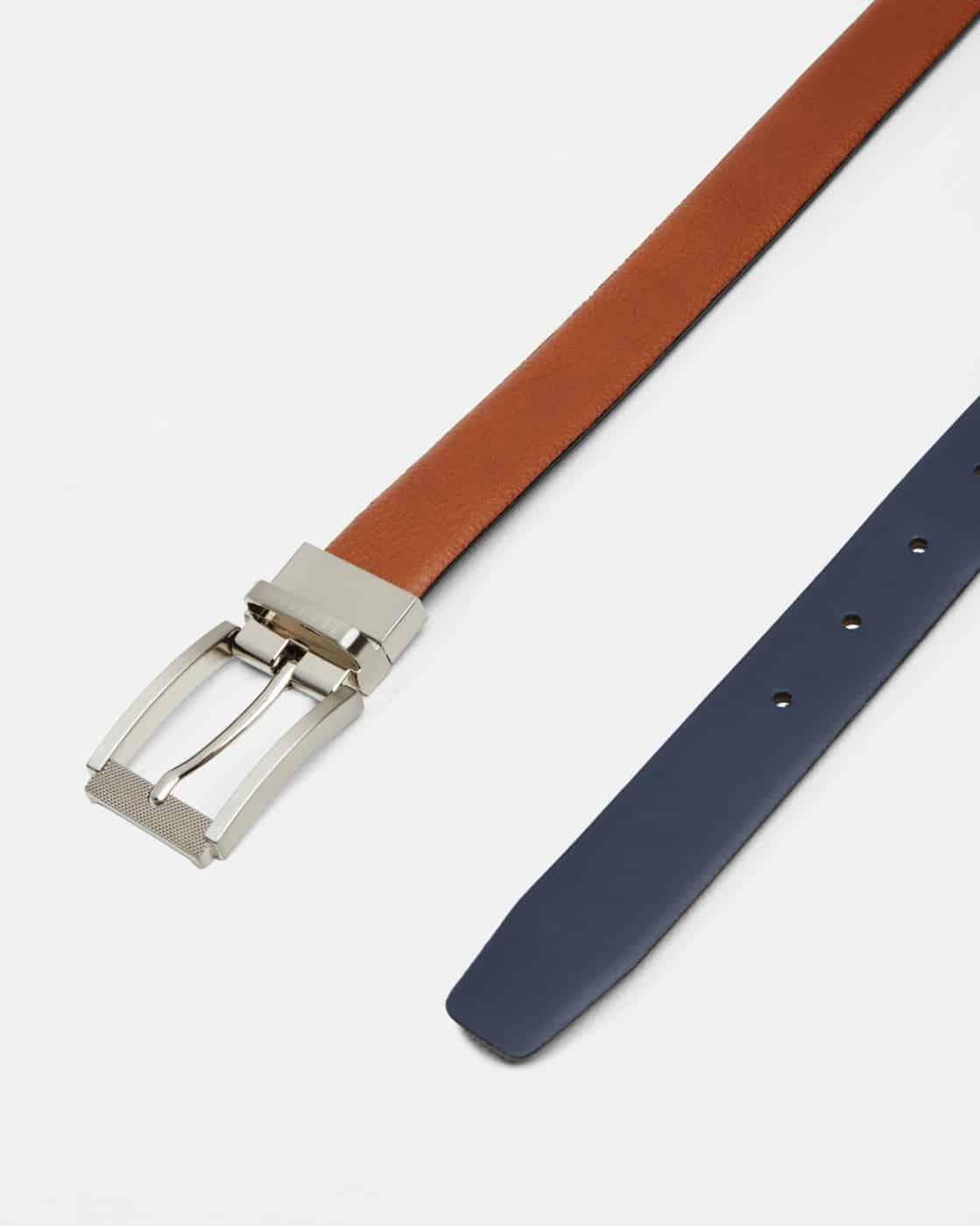 cbc7692abd27 ted baker tan blue reva reversible textured leather belt