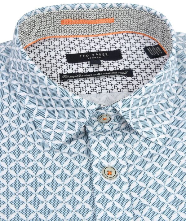 Geometric Print Shirt Ted Baker Discount Visit New Discount Pictures Big Sale For Sale With Mastercard Cheap Price Sale Great Deals owsKrezY