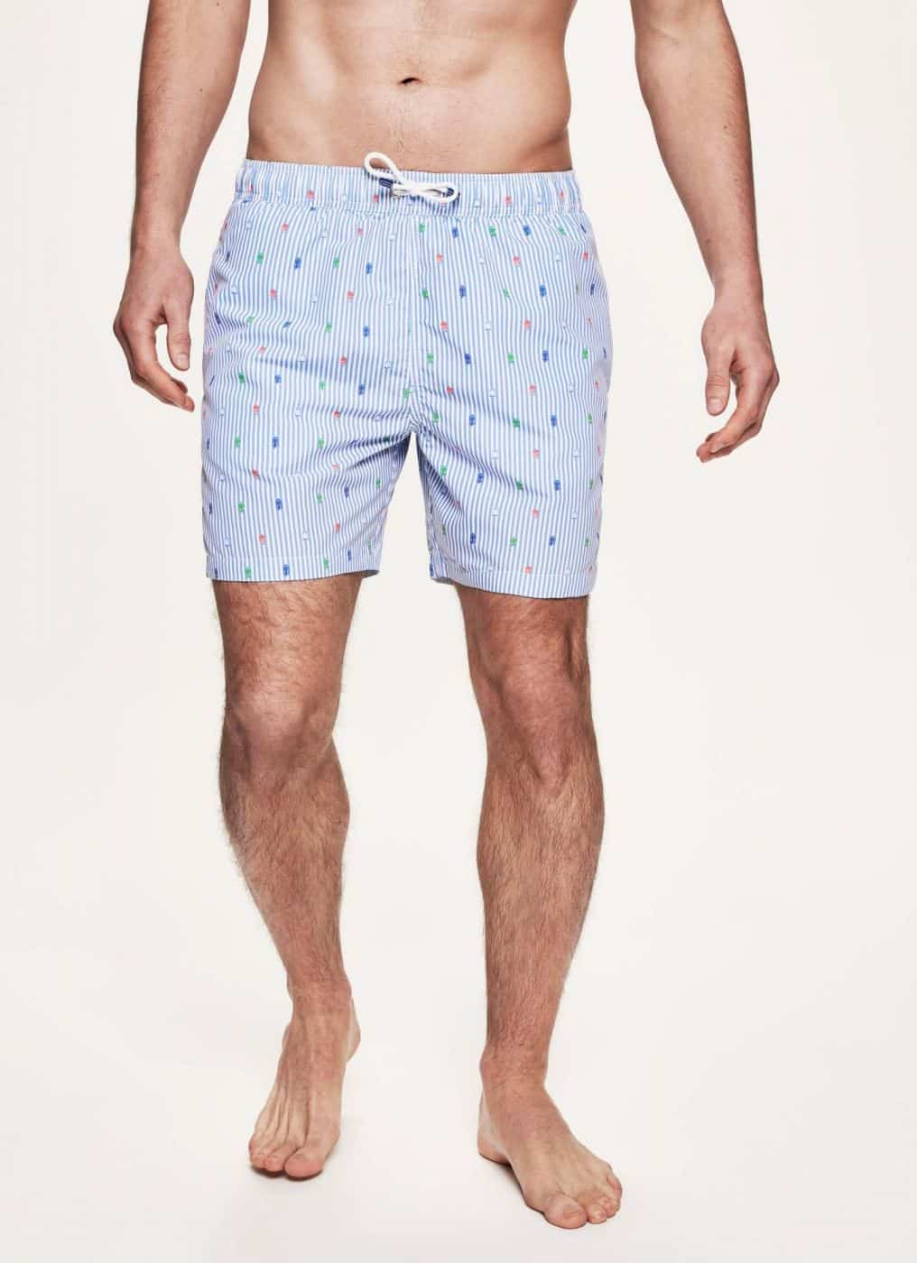 746dacb031 HACKETT LONDON STRIPED BEACH HUT PRINTED SWIM SHORTS