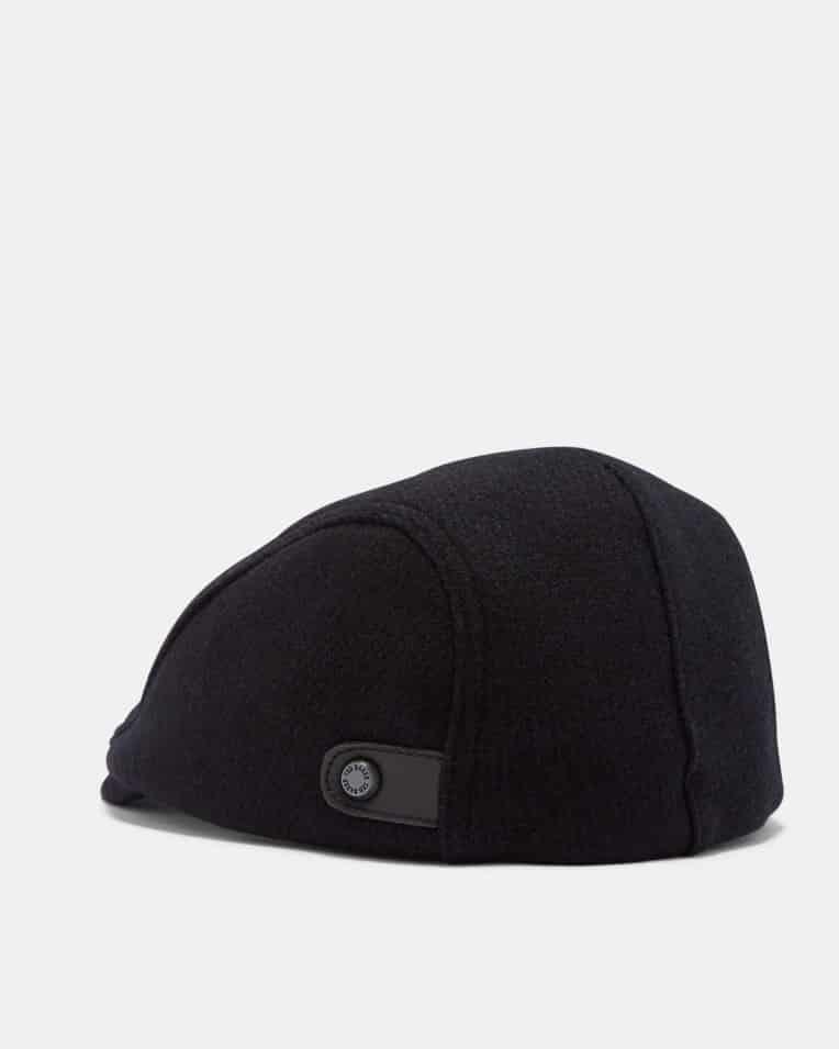 b36d87cf83f6f5 TED BAKER LONDON ENGLISH NAVY FLAT CAP