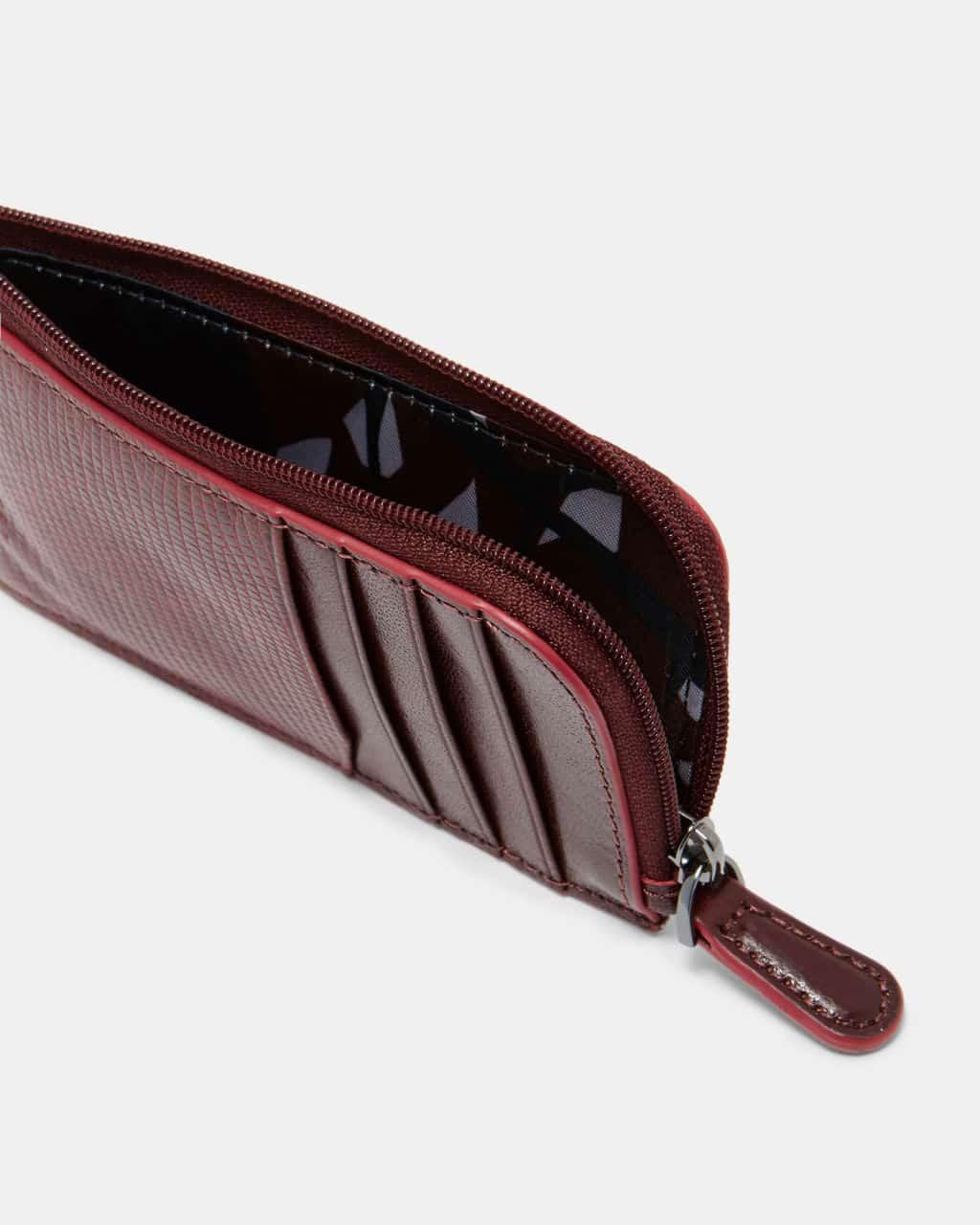 0c68d5dd0c76cf ted baker london goblin dark red contrast edge leather card holder