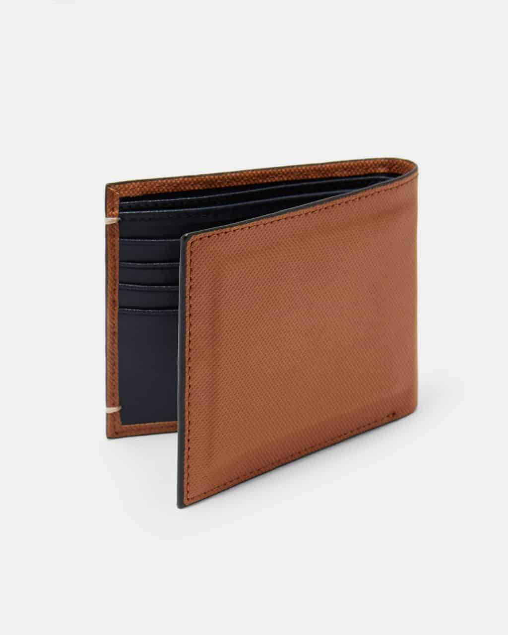 b72b9da27 ted baker london stormz tan perforated leather bi-fold wallet