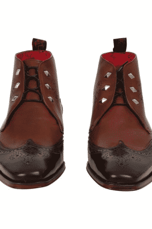 JEFFERY WEST LIMITED EDITON BROWN LEATHER CHUKKA BOOTS