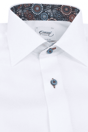 3ab1272bf07 OSCAR OF SWEDEN WHITE SHIRT WITH TRIM DETAILS