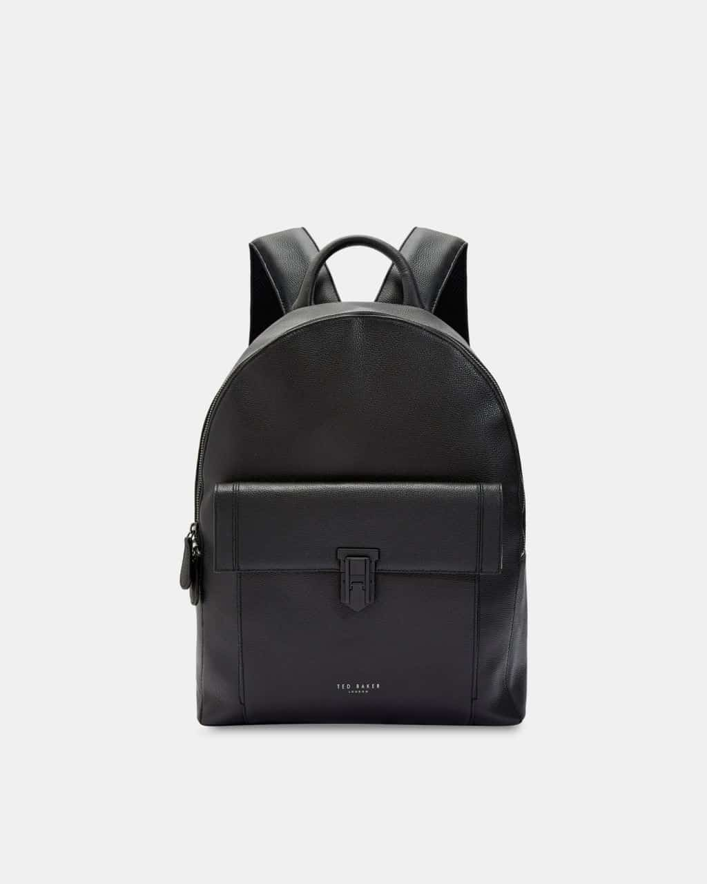 7f6f6491a TED BAKER LONDON BLACK EASTMO LEATHER BACKPACK