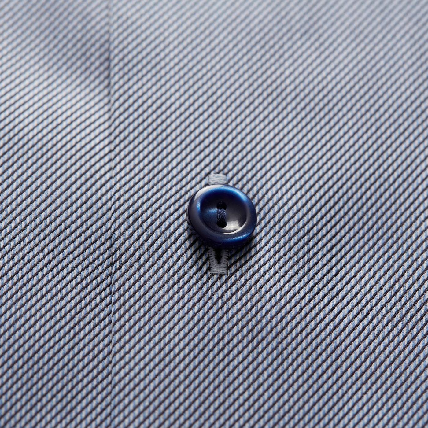 ETON NAVY GEOMETRIC PRINT SHIRT WITH NAVY BLUE BUTTONS