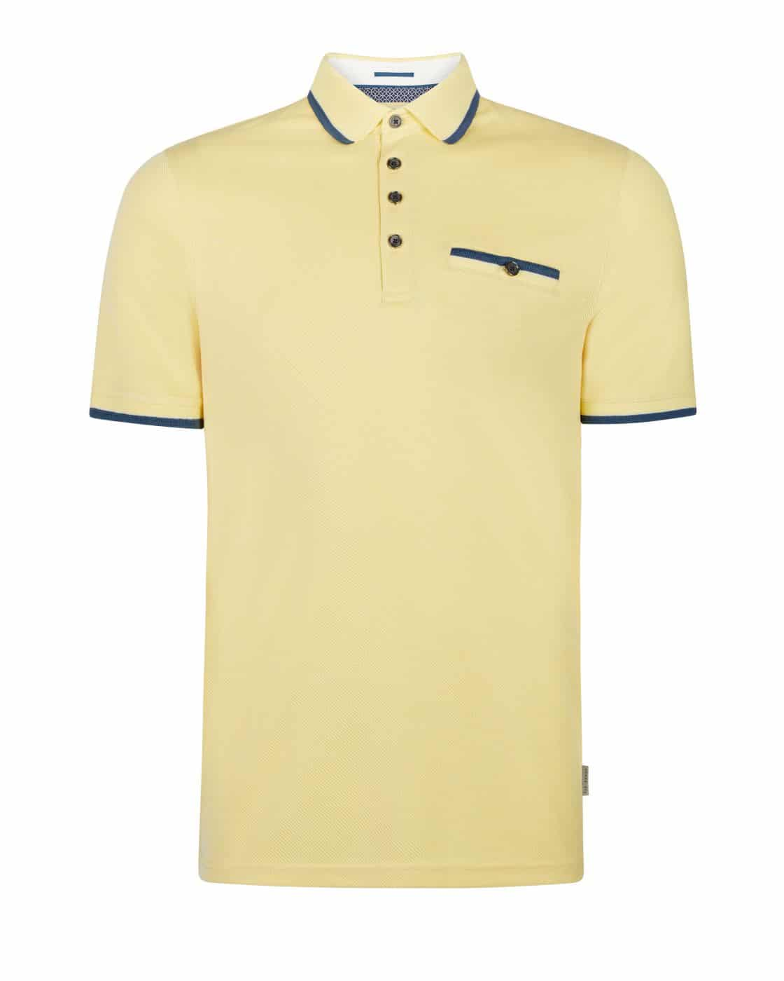 c584cd417d292a TED BAKER HABTAT YELLOW SOFT TOUCH POLO SHIRT
