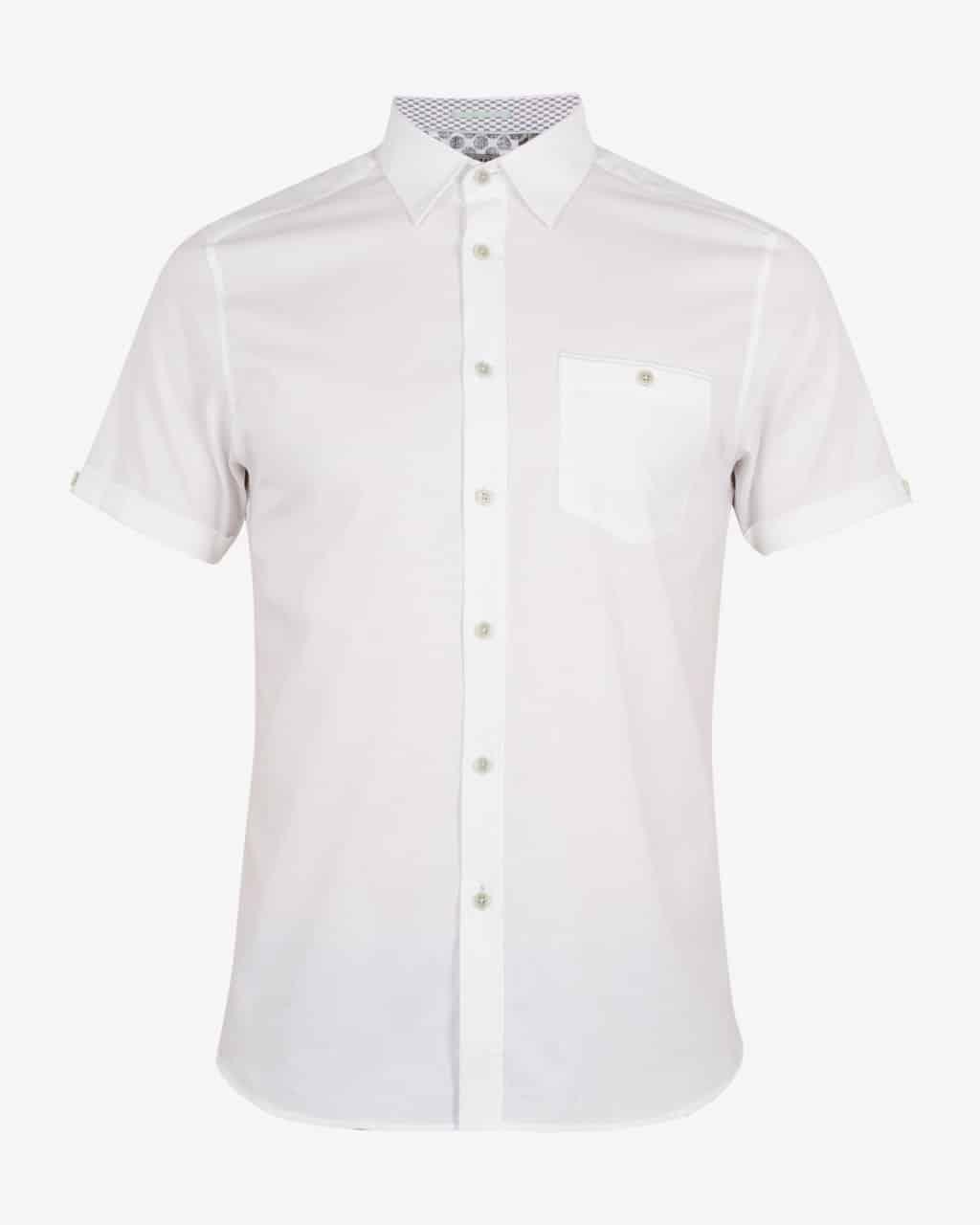 d14255a0 ted baker london white wallabi short sleeved cotton shirt